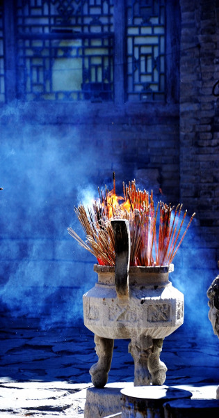 buddhist burning incense