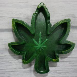 hemp leaf ashtray
