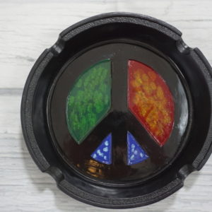 peace sign ashtray
