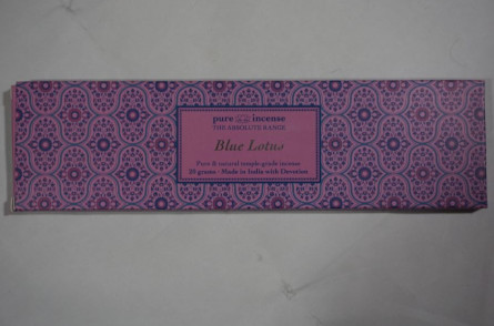 pure incense blue lotus absolute incense sticks