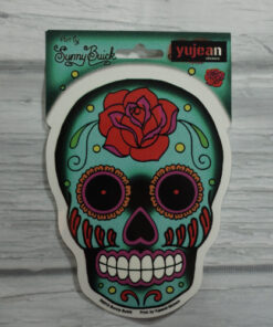 blue sugar skull sticker
