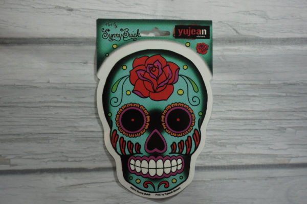 blue sugar skull sticker