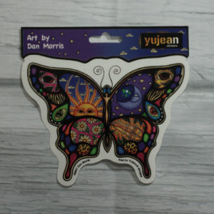 celestial butterfly sticker