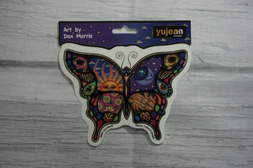 celestial butterfly sticker