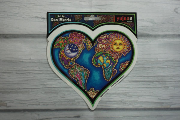 celestial heart sticker