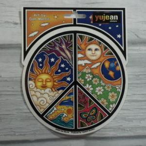 celestial peace sign sticker