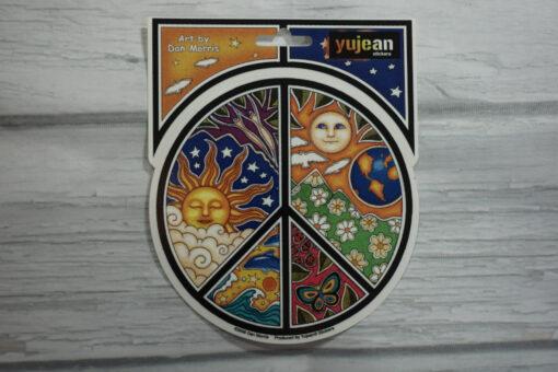 celestial peace sign sticker