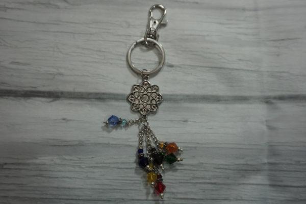 chakra lotus key ring