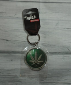 hemp leaf keychain