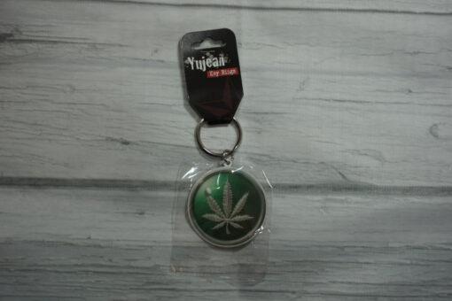 hemp leaf keychain