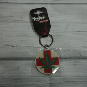 medical hemp keyring