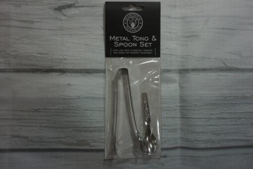 metal tong and spoon set