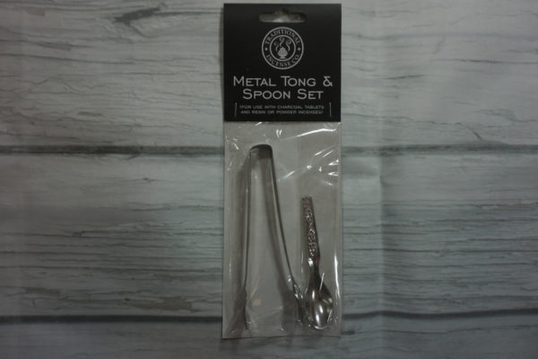 metal tong and spoon set
