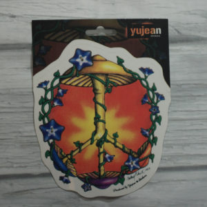 mushroom peace sign sticker
