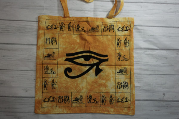 egyptian eye tote bag