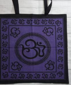 sacred om symbol tote bag