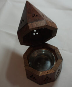 Charcoal Tower Incense Burner Opened