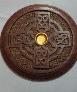 celtic cross incense burner
