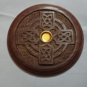 celtic cross incense burner