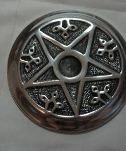 Metal Pentacle Incense Burner