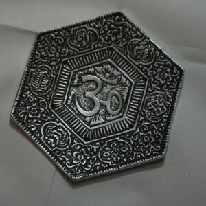 hexagonal ohm incense burner