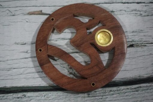 Wooden Ohm Incense Burner