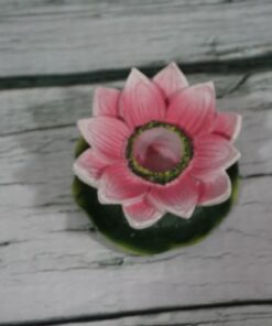 pink lotus incense burner