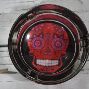 red day of the dead ashtray