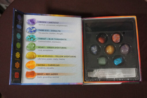 Chakra Stones Gemstone Kit Opened