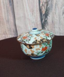 Arita Peony Flower Teacup with Lid
