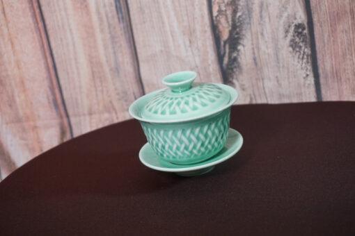 Gaiwan Mesh Patterns, Light Green