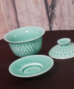 Gaiwan Mesh Patterns, Light Green Components