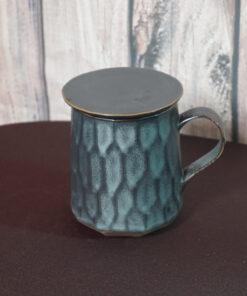 Patterned Tea Mug Infuser, Gray