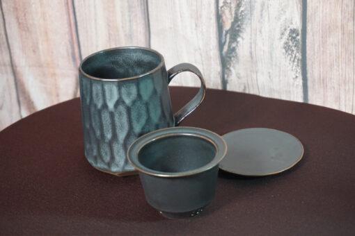 Patterned Tea Mug Infuser, Gray Components