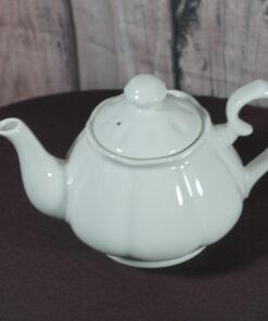 diana white porcelain teapot