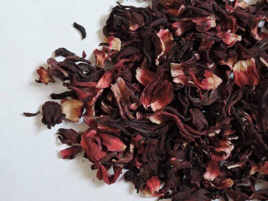 dried karkade hibiscus flowers